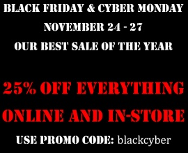 BLACK FRIDAY AND CYBER MONDAY SALE!
