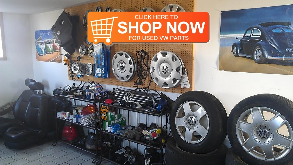 Our used VW parts showroom in Rodney, Ontario.